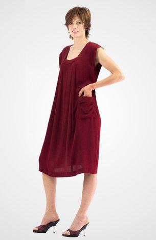 Robe rouge en soie