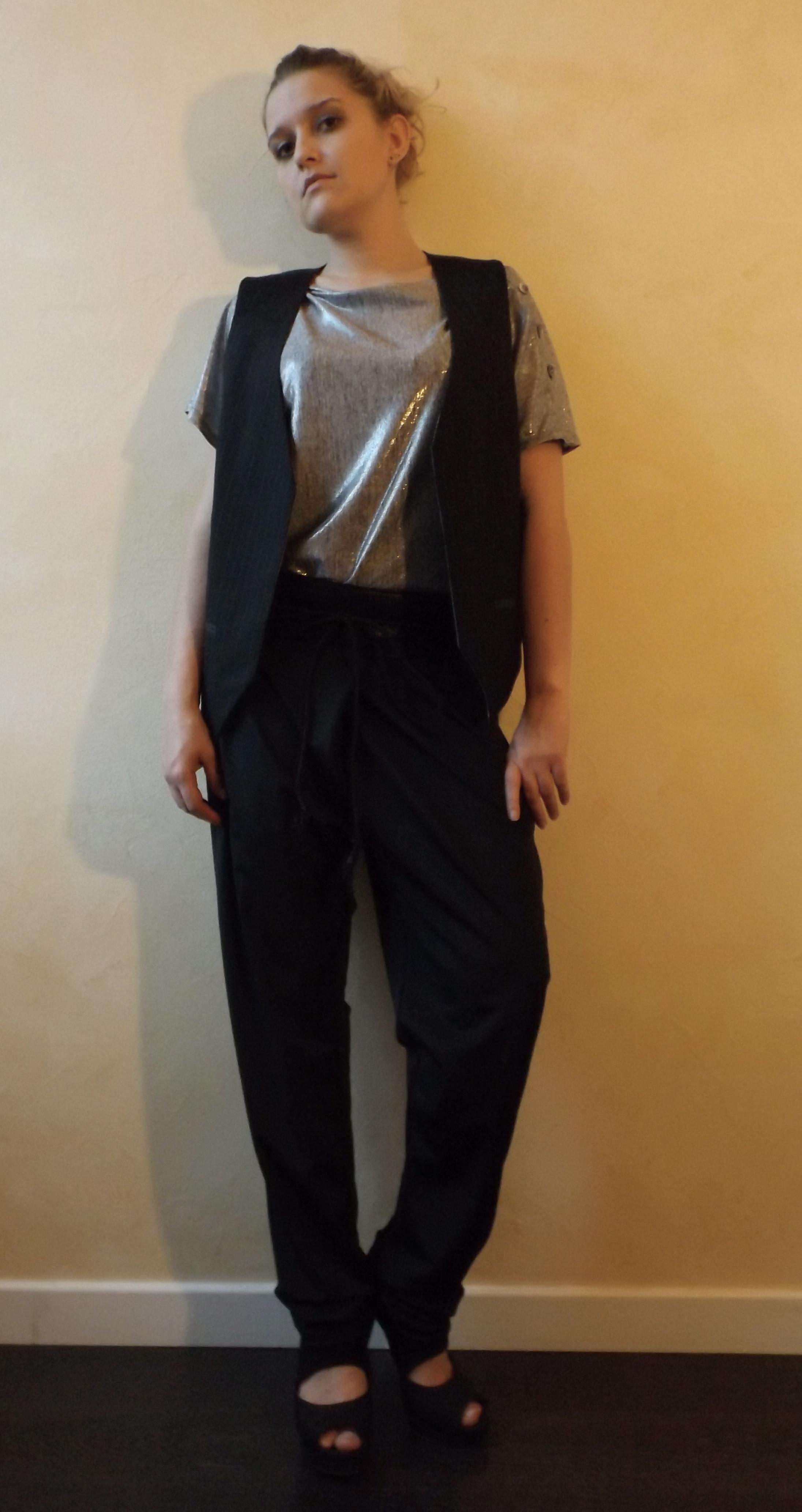 Gilet réversible et pantalon 2 ways