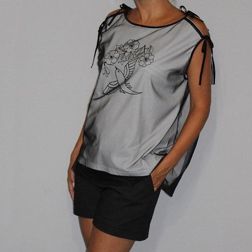 T-shirt sérigraphié mouette trasformable