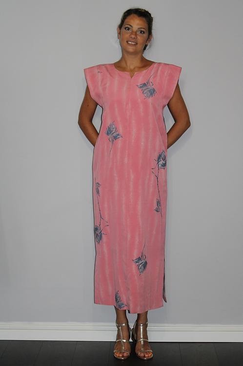 maxi-robe rose Japonais