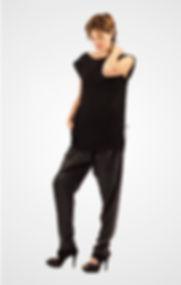 Pantalon sarouel noir