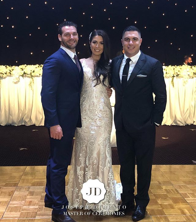 I am so honoured to have been asked to host the wedding of Alex & Sarah Marie Tesoriero tonight _mir
