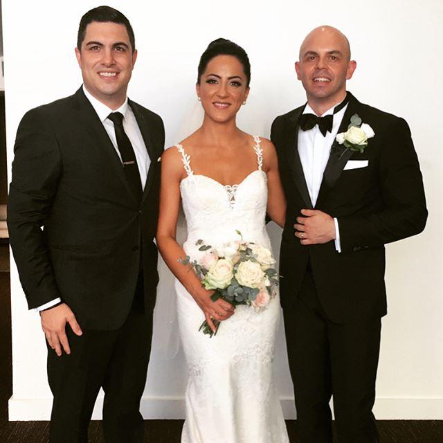 I have the pleasure of hosting the wedding of Rino & Farnaz Vangeli tonight