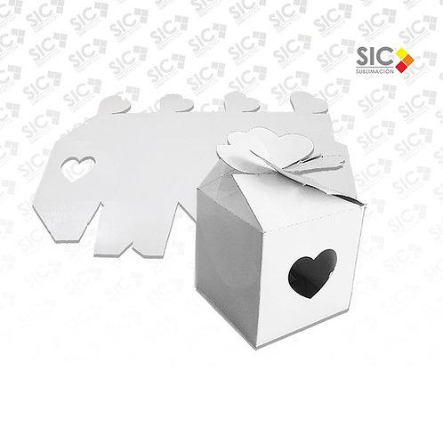 Caja para tazas con corazón calado - PACK X 15