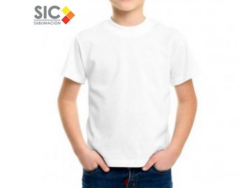 Remera de niño blanca mangas cortas