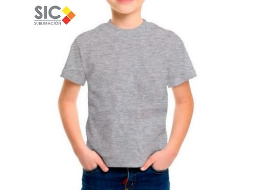 Remera de niño gris mangas cortas