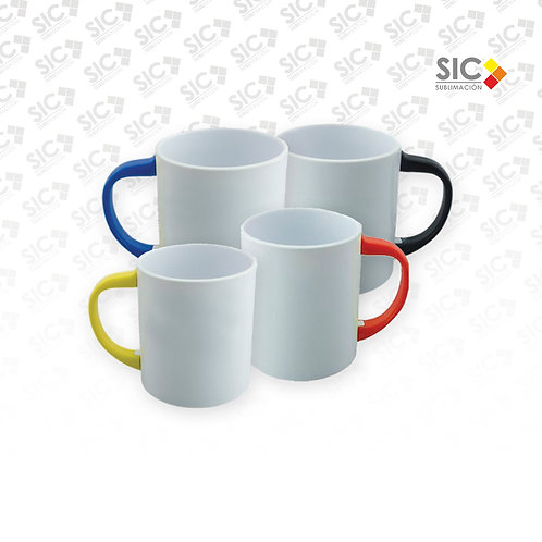 Taza plástica con asa color