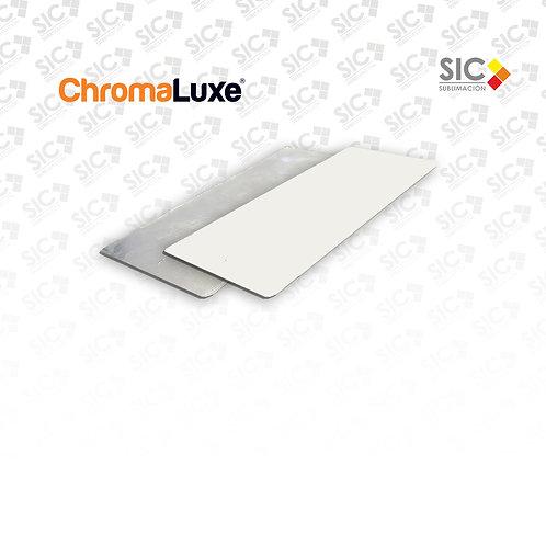 Chapa metálica 20x8,5cm Chromaluxe
