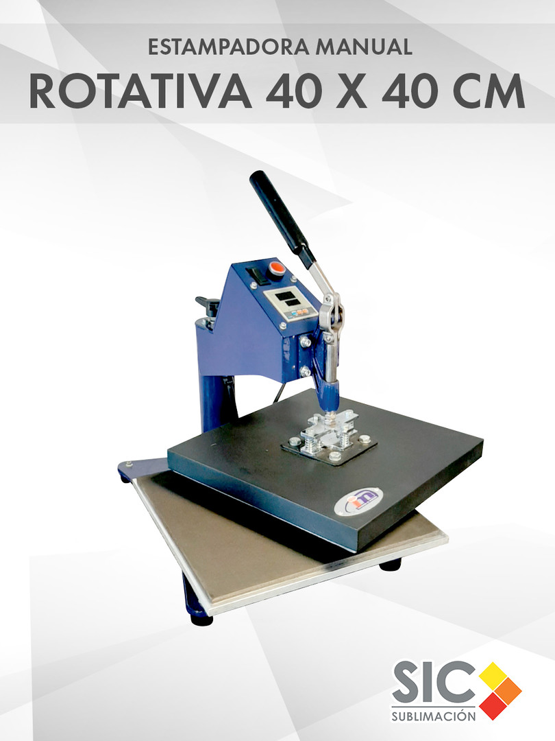 Estampadora Manual Rotativa 40 x 40 cm