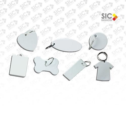 Llaveros plástico - CAJA X 20 UNIDADES