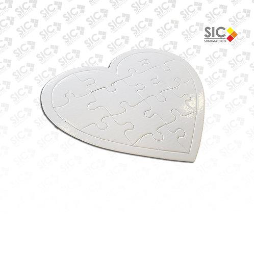 Rompecabezas en forma de corazón - PACK X 10