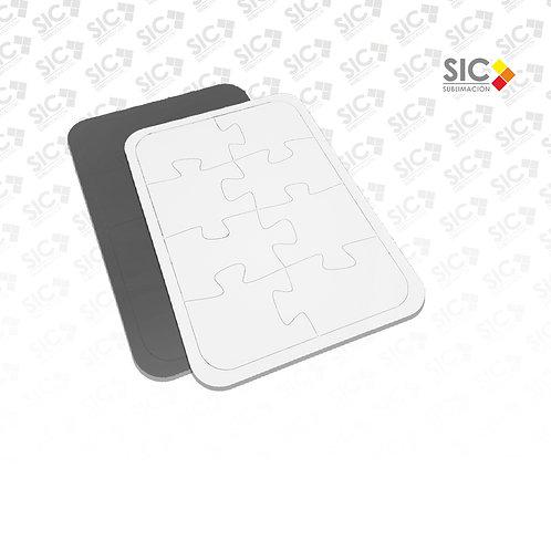 Rompecabezas A4 8 piezas CON IMAN - PACK X 5
