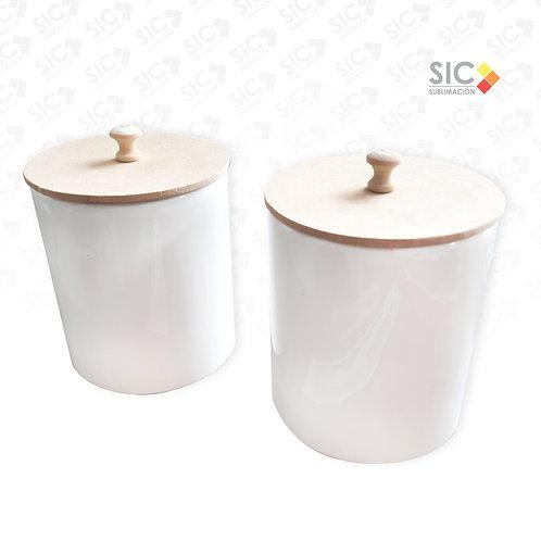 Azucarera -Yerbera de cerámica