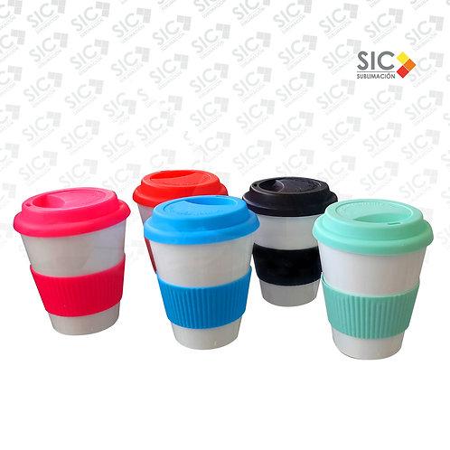 Vaso Cafetero de polímero con color