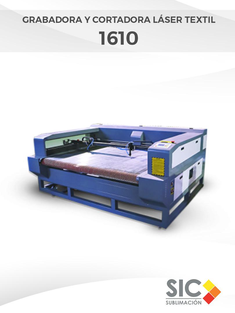 Grabadora y Cortadora láser textil 1610