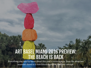 Cultural sprawl hits Miami Beach with the opening of the Art Basel fair in December