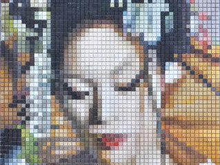 DUTCH ARTIST NEMO JANTZEN  PAINTS A PORTRAIT ON CERAMIC TILES