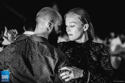Socially dancing in Mediterranean Summer Tango Festival, Porec