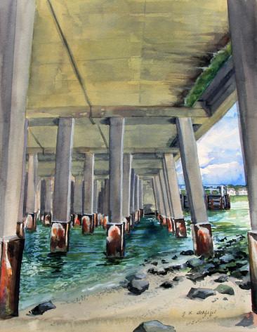 Plein Air- Under the Rt. 50 Bridge