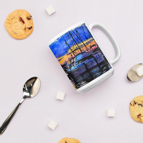 Sunset on the Marina: Mug