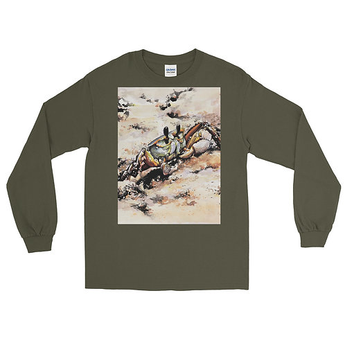Ghost Crab: Men's Long Sleeve Shirt