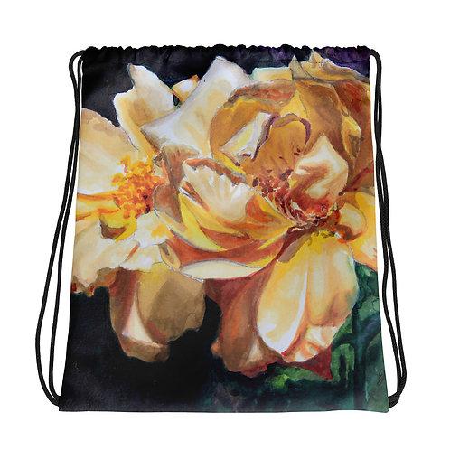 Yellow Roses: Drawstring bag