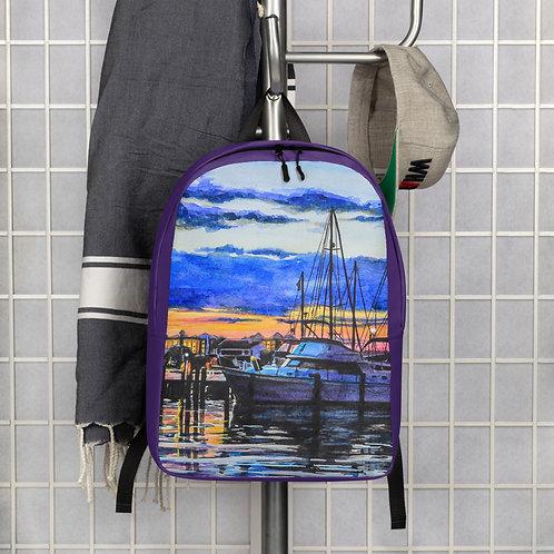Sunset on the Marina: Minimalist Backpack