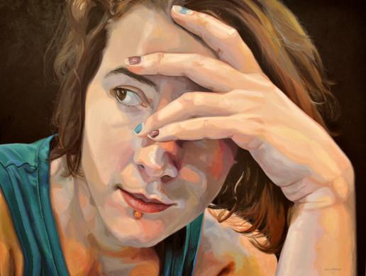 "42"" x 60"" Oil Paint on Canvas."