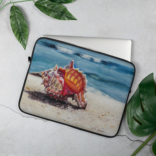 Murex Shell on the Beach: Laptop Sleeve