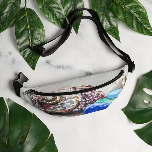 Sea Glass and Seashells on the Beach: Fanny Pack