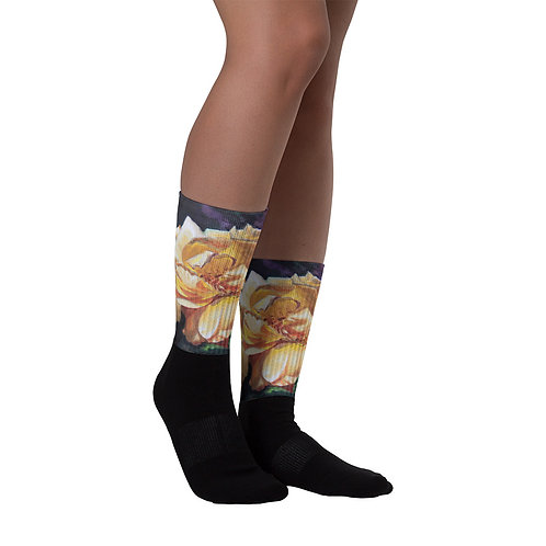 Yellow Roses: Socks