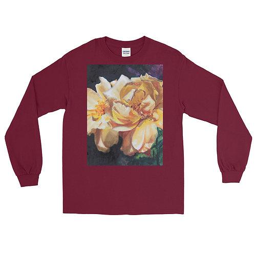 Yellow Roses: Men's Long Sleeve Shirt