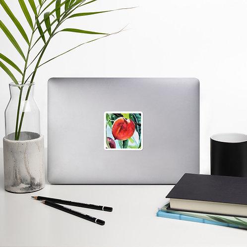 Peaches: Bubble-free stickers