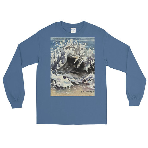 Ocean Waves: Men's Long Sleeve Shirt