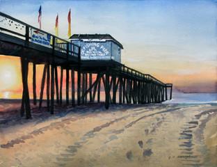 Plein Air- Sunrise on OC Fishing Pier