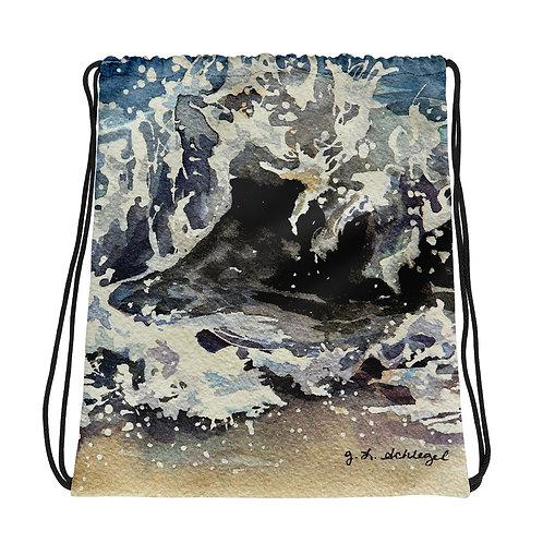 Ocean Waves: Drawstring bag