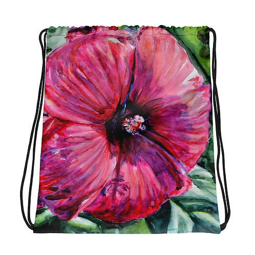Hibiscus: Drawstring bag