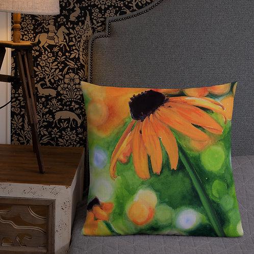 Black-Eyed Susan: Premium Pillow