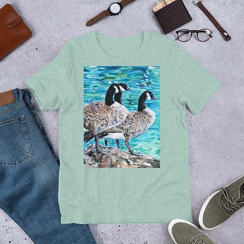 Geese Sunbathing: Short-Sleeve Unisex T-Shirt