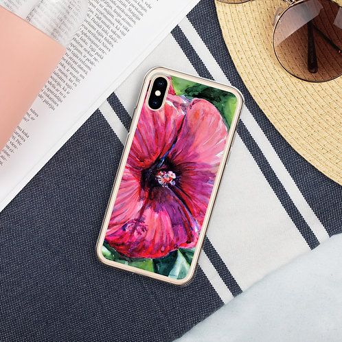 Hibiscus: Liquid Glitter Phone Case