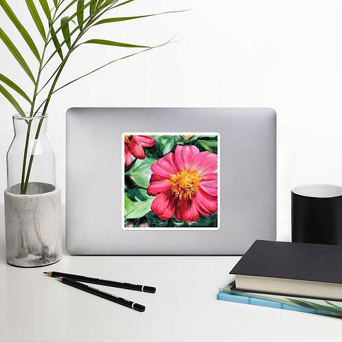 Flowers: Bubble-free stickers