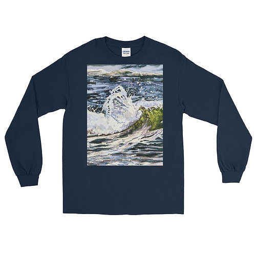 Tranquility: Men's Long Sleeve Shirt