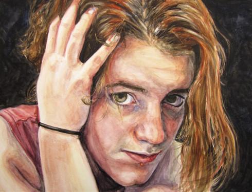 """24"""" x 18"""" Watercolor. 2010"""