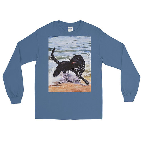 Day at the Beach: Men's Long Sleeve Shirt