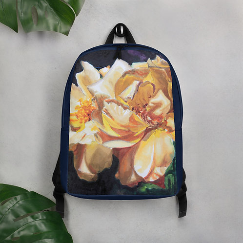 Yellow Roses: Minimalist Backpack