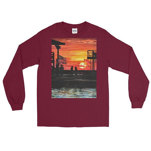 The Calm After the Storm: Men's Long Sleeve Shirt
