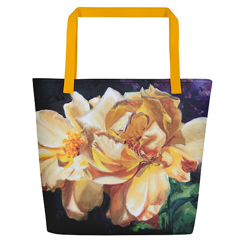 Yellow Roses: Beach Bag
