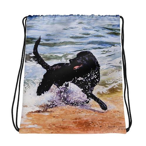Day at The Beach: Drawstring bag
