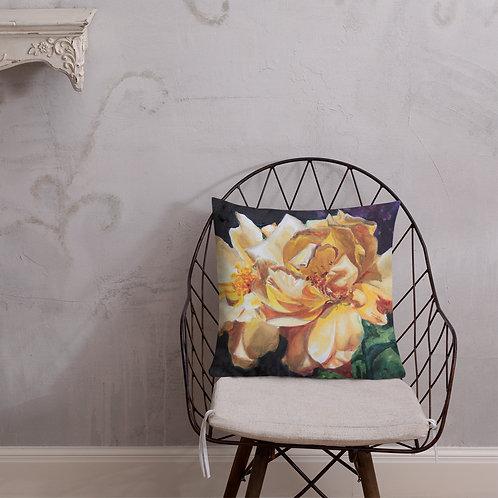 Yellow Roses: Premium Pillow