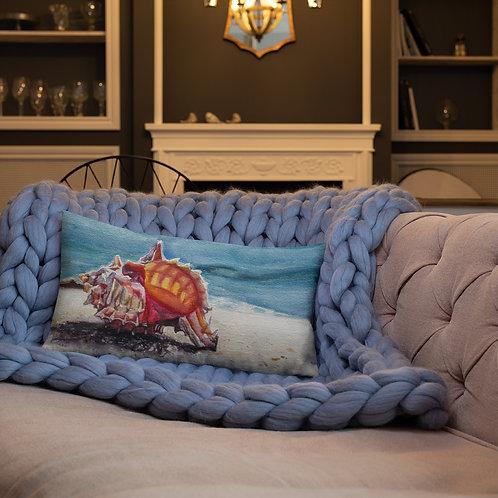 Murex Shell on the Beach: Premium Pillow